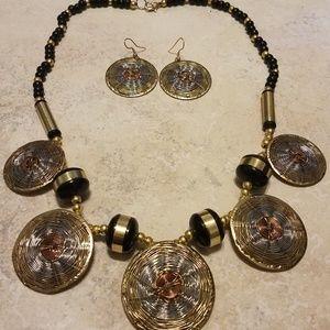 Lovely Brass Necklace Set!